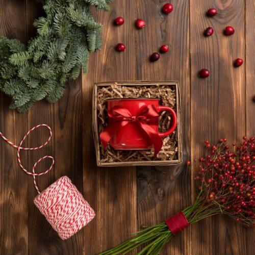 zestaw prezentowy z kubkiem ceramicznym