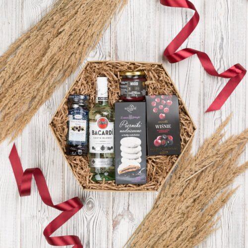bacardi rum biały na prezent