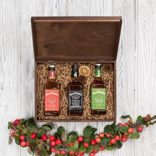 zestaw whisky jack daniels apple fire