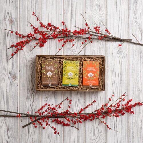 zestaw herbat organicznych w skrzynce